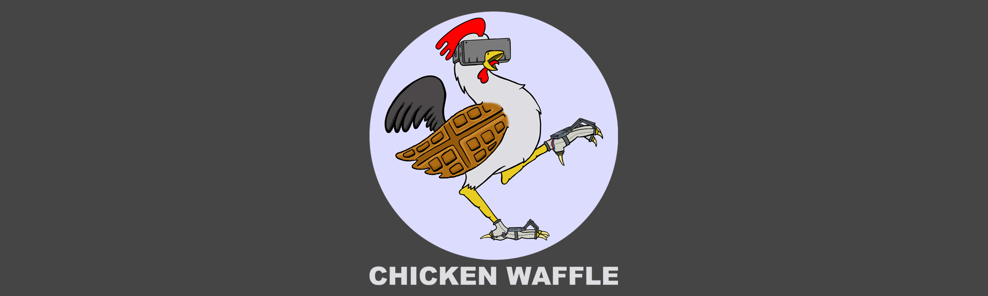 Chickenwaffle logohead banner