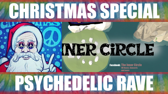 Tile psychedelic rave christmas