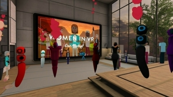 Tile women in xr altspacevr