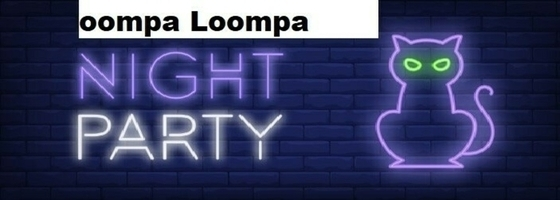 Tile night party neon style banner cat brick background halloween party night event 1262 13548  2